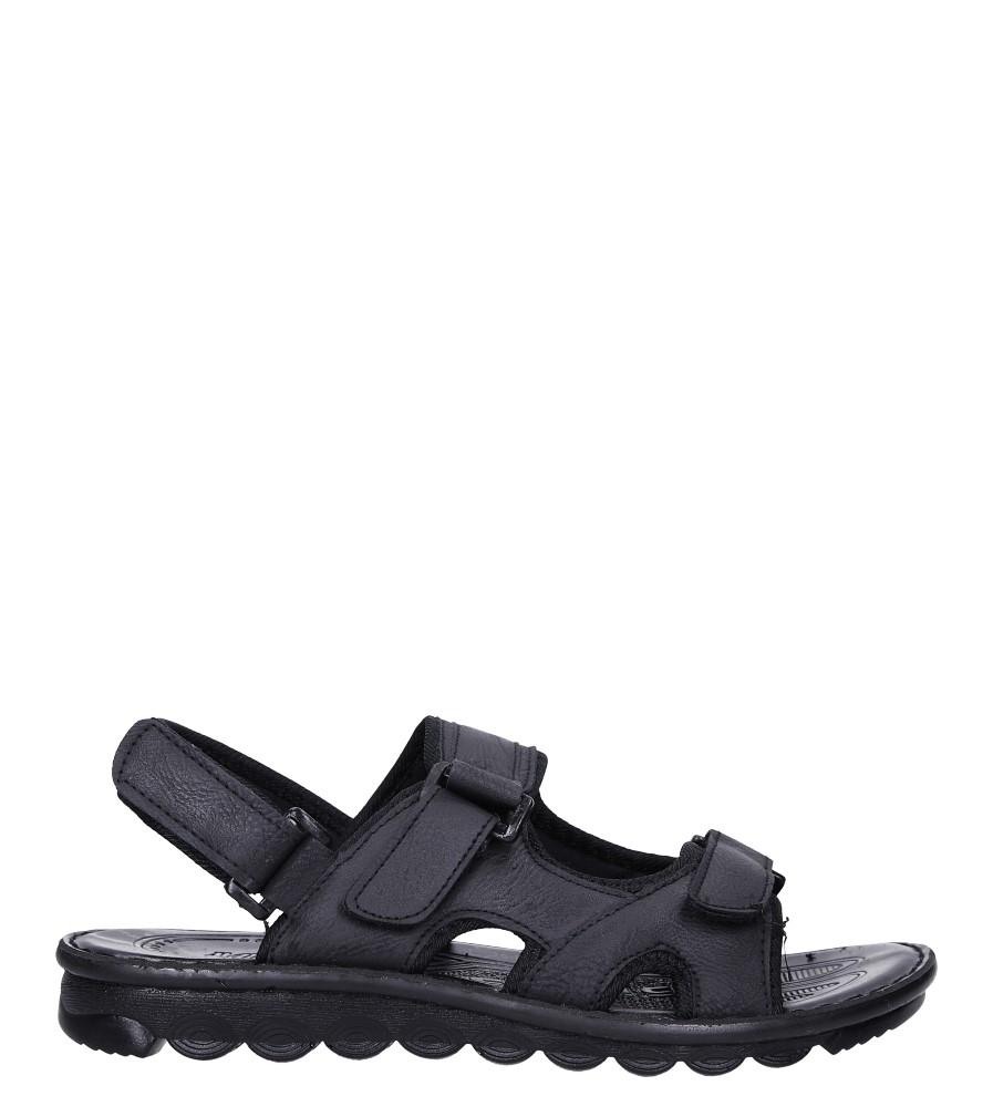 Czarne sandały na rzepy Casu 97-2 czarny