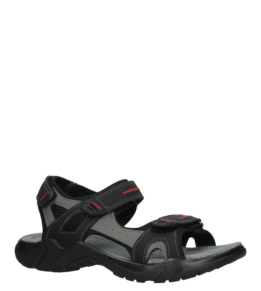 Czarne sandały na rzepy Casu 9S-FH86403