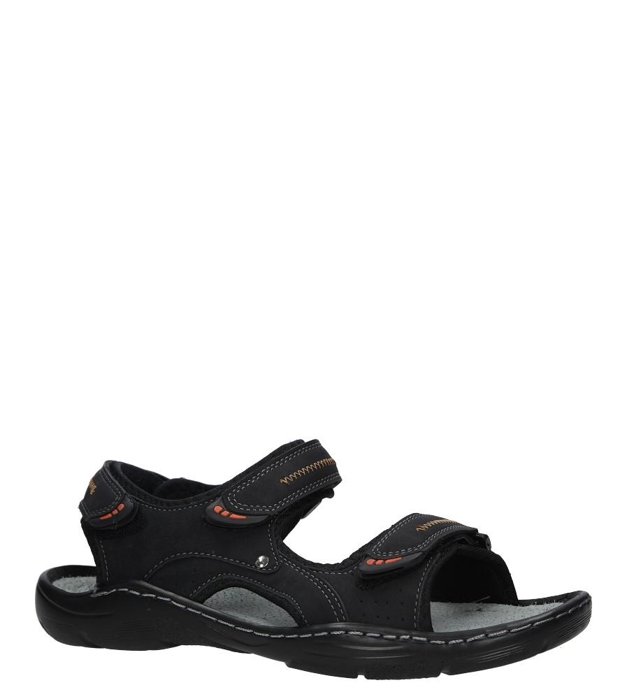 Czarne sandały na rzepy Casu 9S-FH86408 czarny