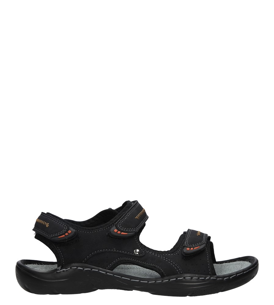 Czarne sandały na rzepy Casu 9S-FH86408 model 9S-FH86408