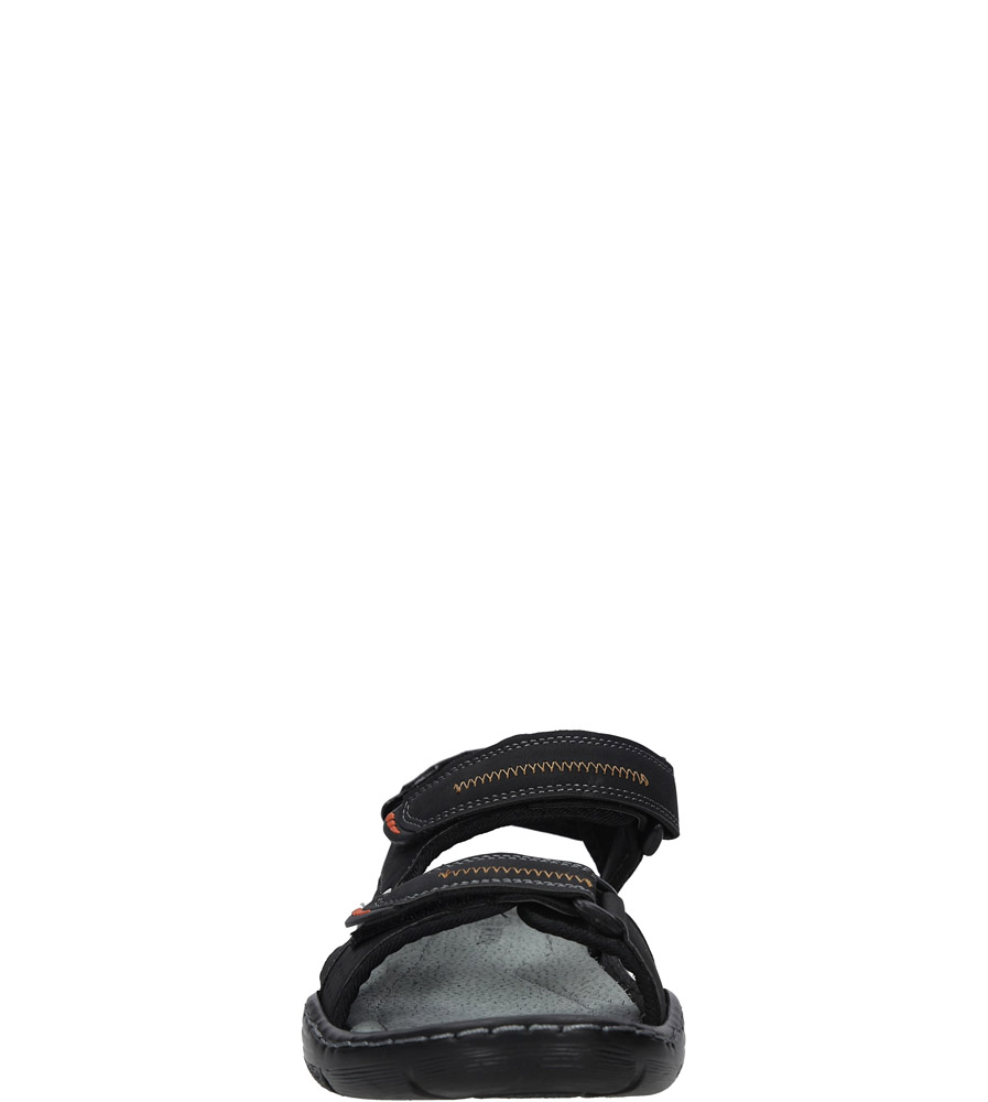 Czarne sandały na rzepy Casu 9S-FH86408 sezon Lato