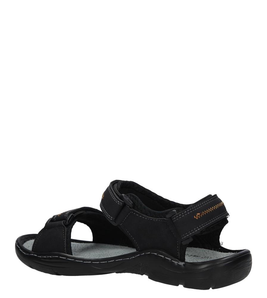 Czarne sandały na rzepy Casu 9S-FH86408 kolor czarny