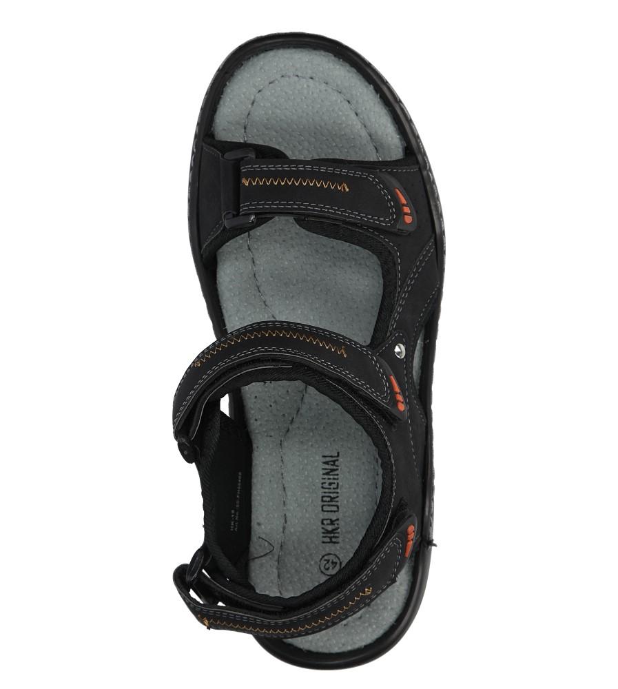 Czarne sandały na rzepy Casu 9S-FH86408 wysokosc_platformy 2 cm