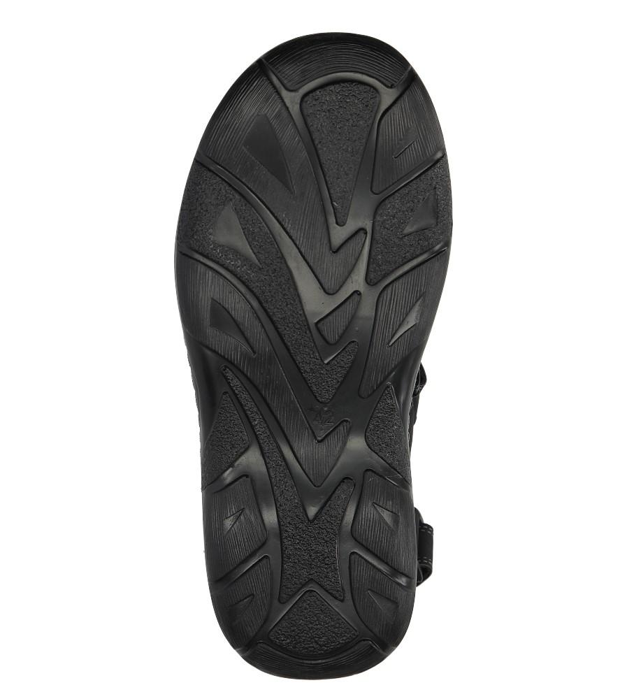 Czarne sandały na rzepy Casu 9S-FH86408 wys_calkowita_buta 14 cm
