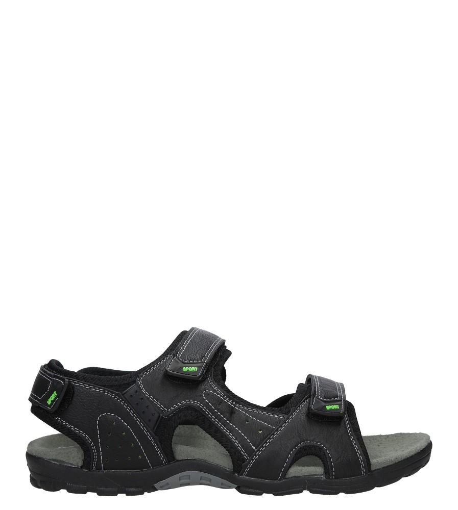 Czarne sandały na rzepy Casu 9S-TA86289