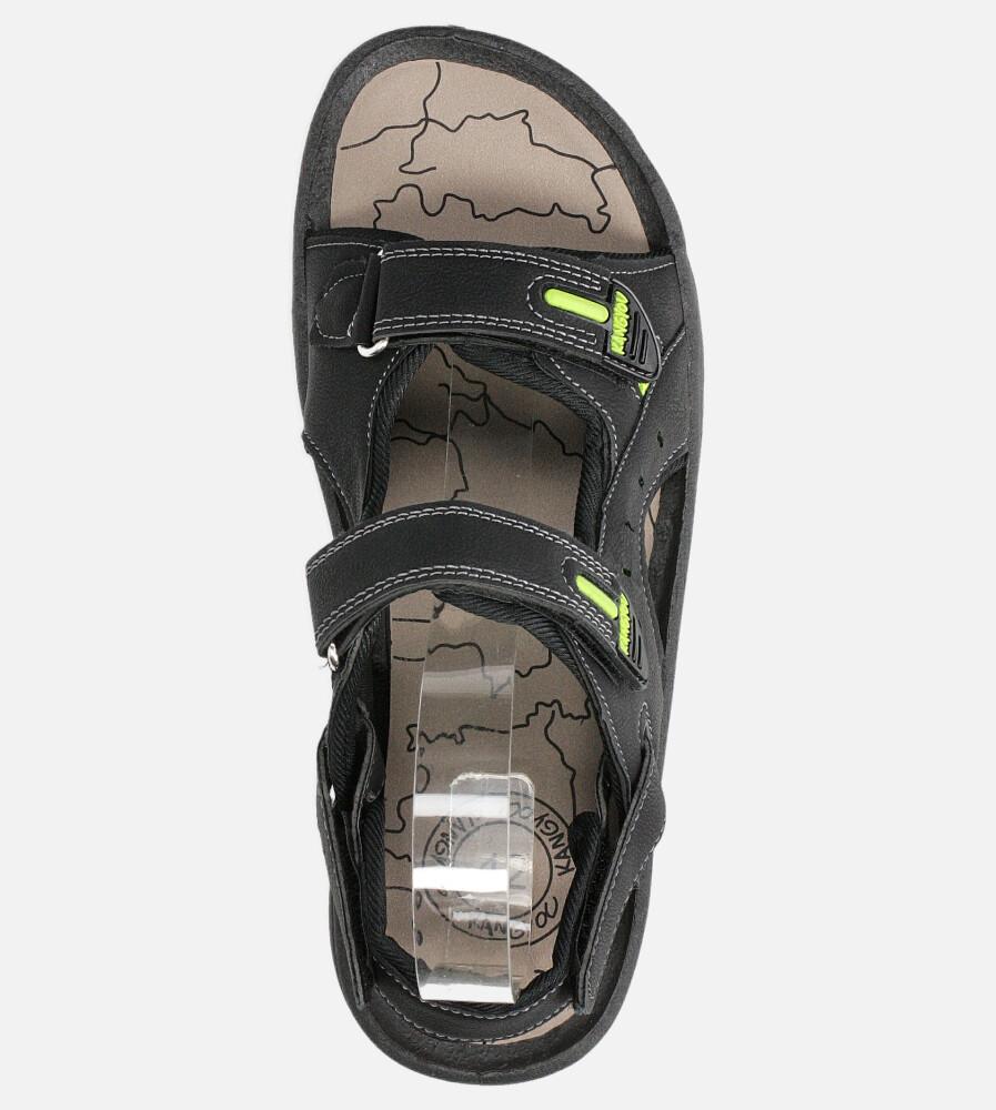 Czarne sandały na rzepy Casu B-67 kolor czarny