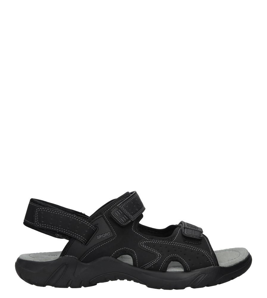 Czarne sandały na rzepy Casu B9002-1
