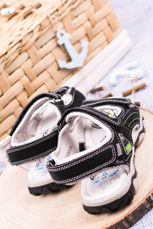 Czarne sandały na rzepy Casu CS9008 czarny
