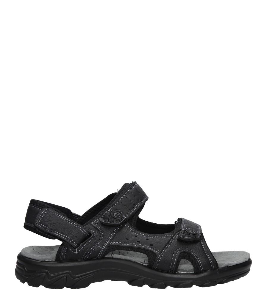 Czarne sandały na rzepy Casu D18627A