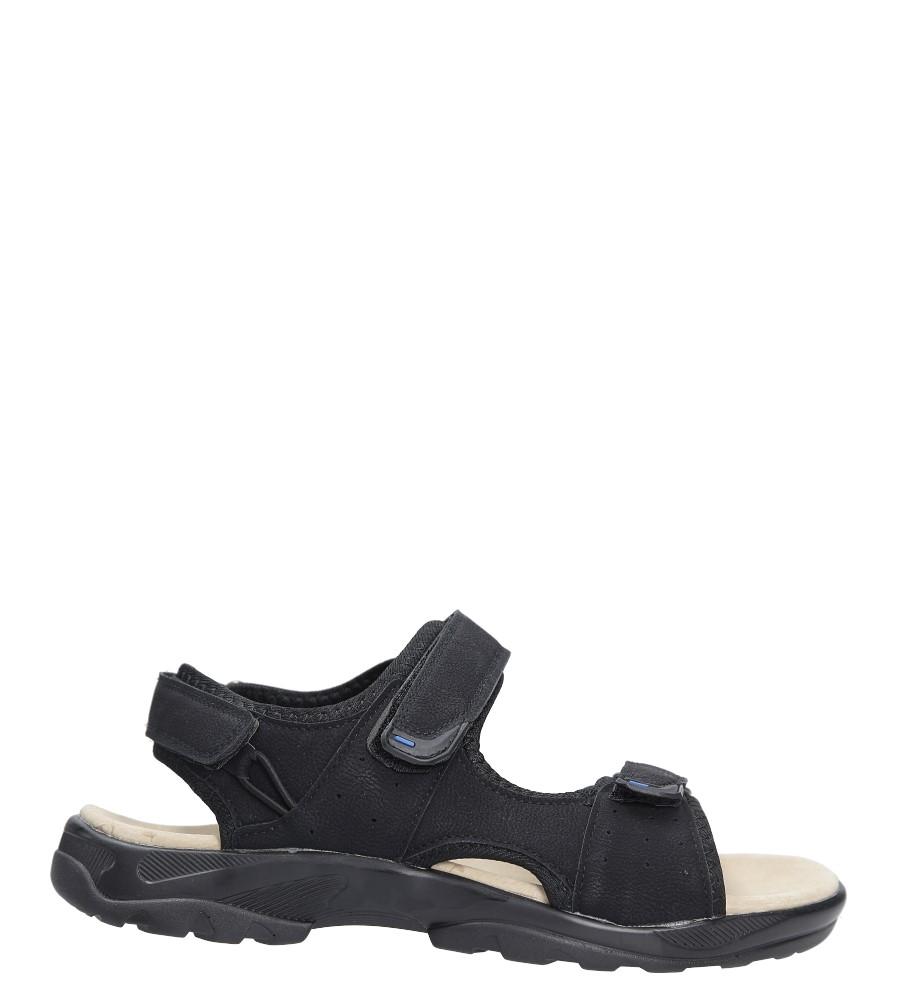 Czarne sandały na rzepy Casu GT136009