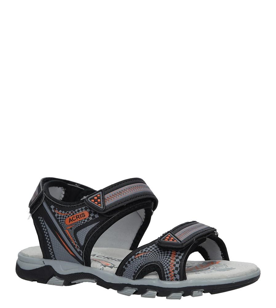Czarne sandały na rzepy Casu HH720C