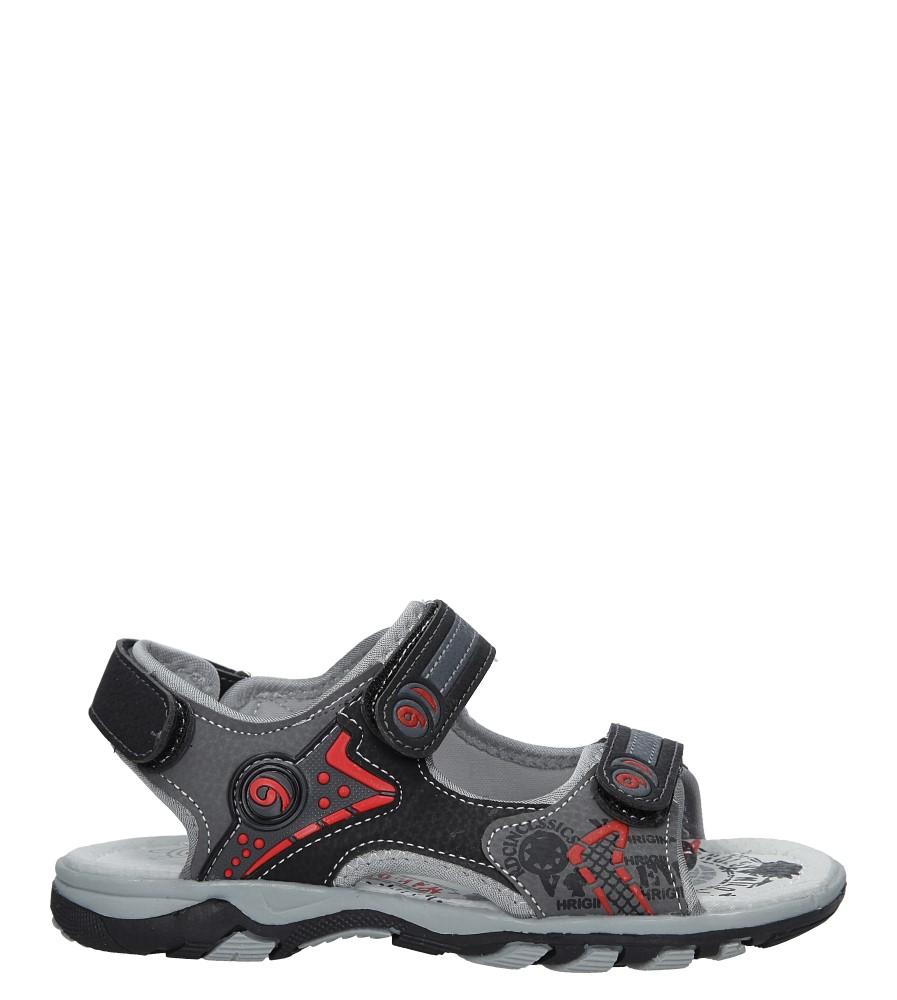 Czarne sandały na rzepy Casu HH722C czarny