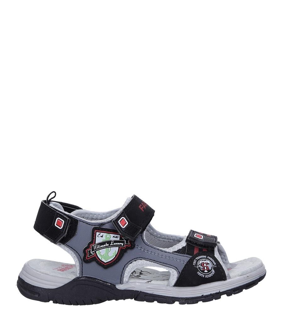 Czarne sandały na rzepy Casu JF02