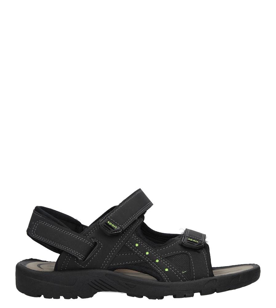 Czarne sandały na rzepy Casu JK01 czarny