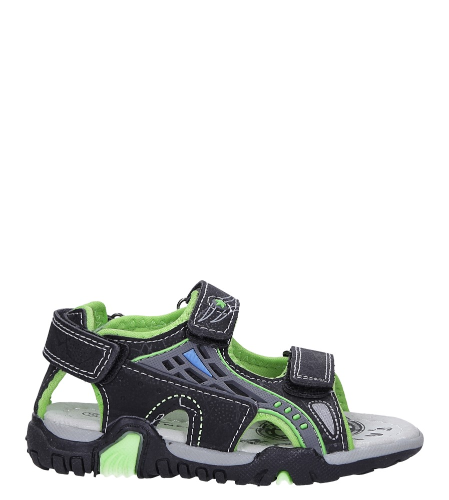 Czarne sandały na rzepy Casu LA71