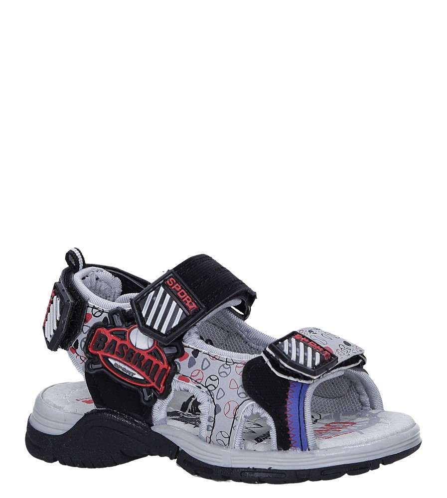 Czarne sandały na rzepy Casu LA80 producent Casu