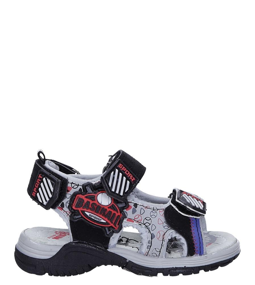 Czarne sandały na rzepy Casu LA80 model LA80