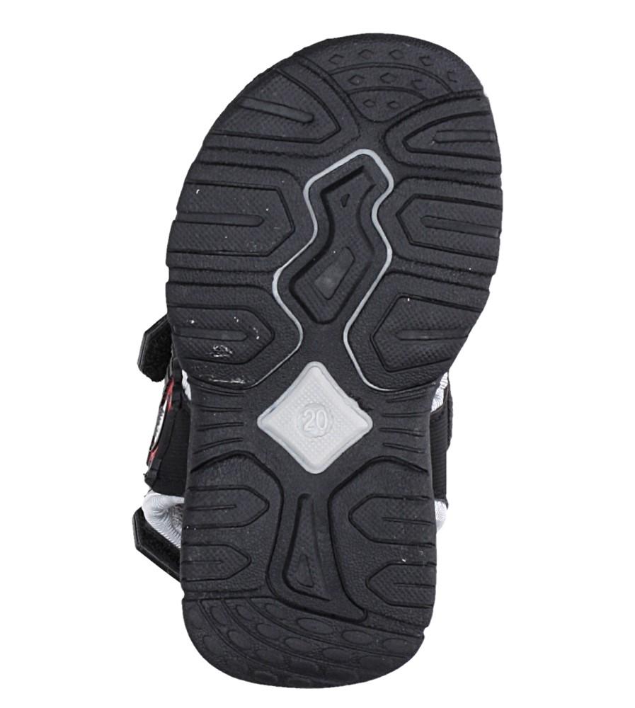 Czarne sandały na rzepy Casu LA80 wysokosc_platformy 1 cm