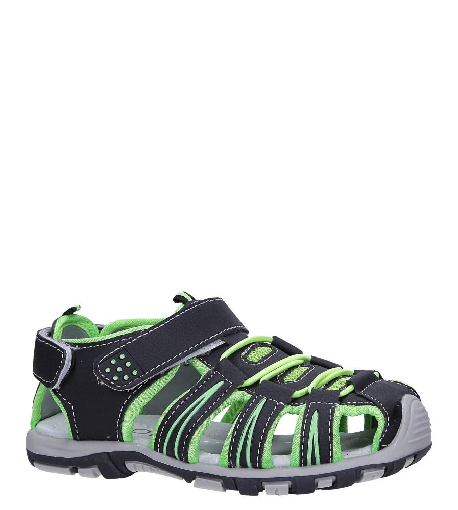 Czarne sandały na rzepy Casu LA88