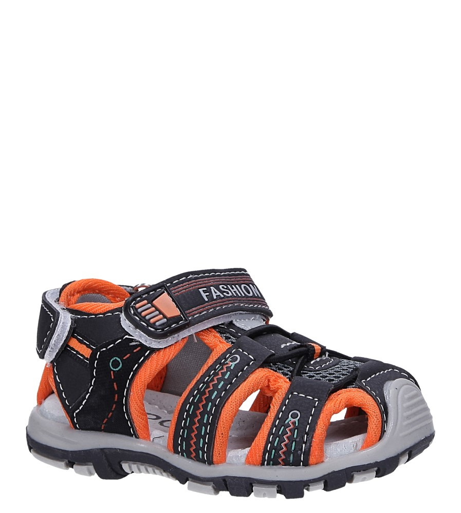 Czarne sandały na rzepy Casu LA89