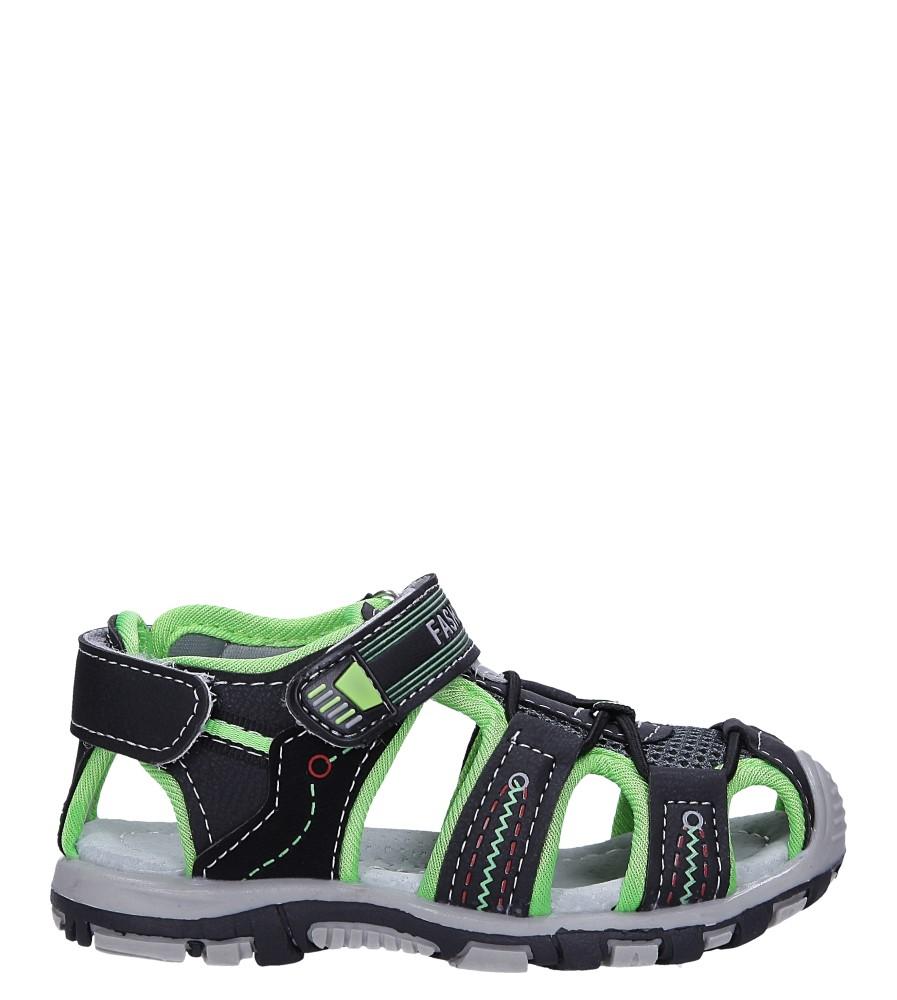 Czarne sandały na rzepy Casu LA90