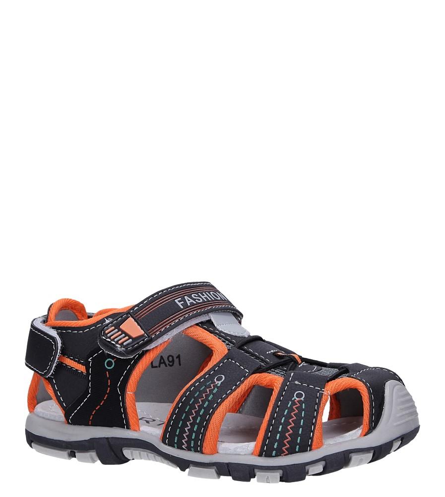 Czarne sandały na rzepy Casu LA91