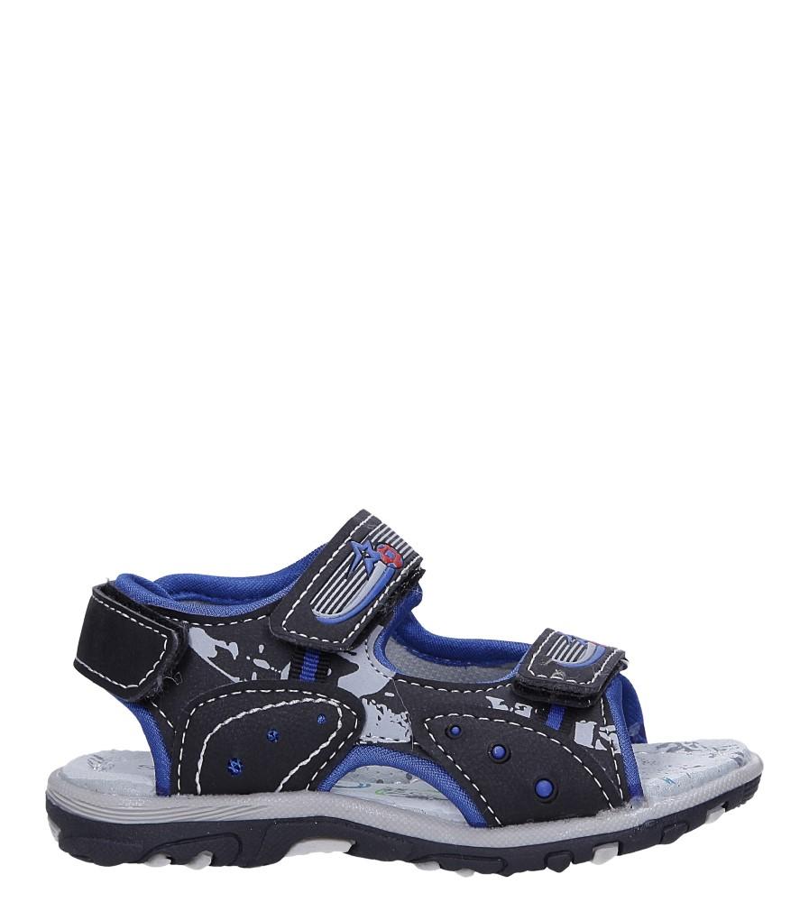 Czarne sandały na rzepy Casu LA95
