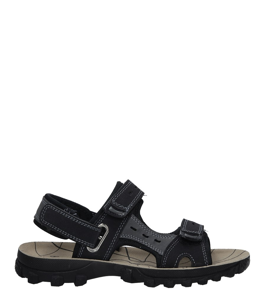 Czarne sandały na rzepy Casu M03 czarny