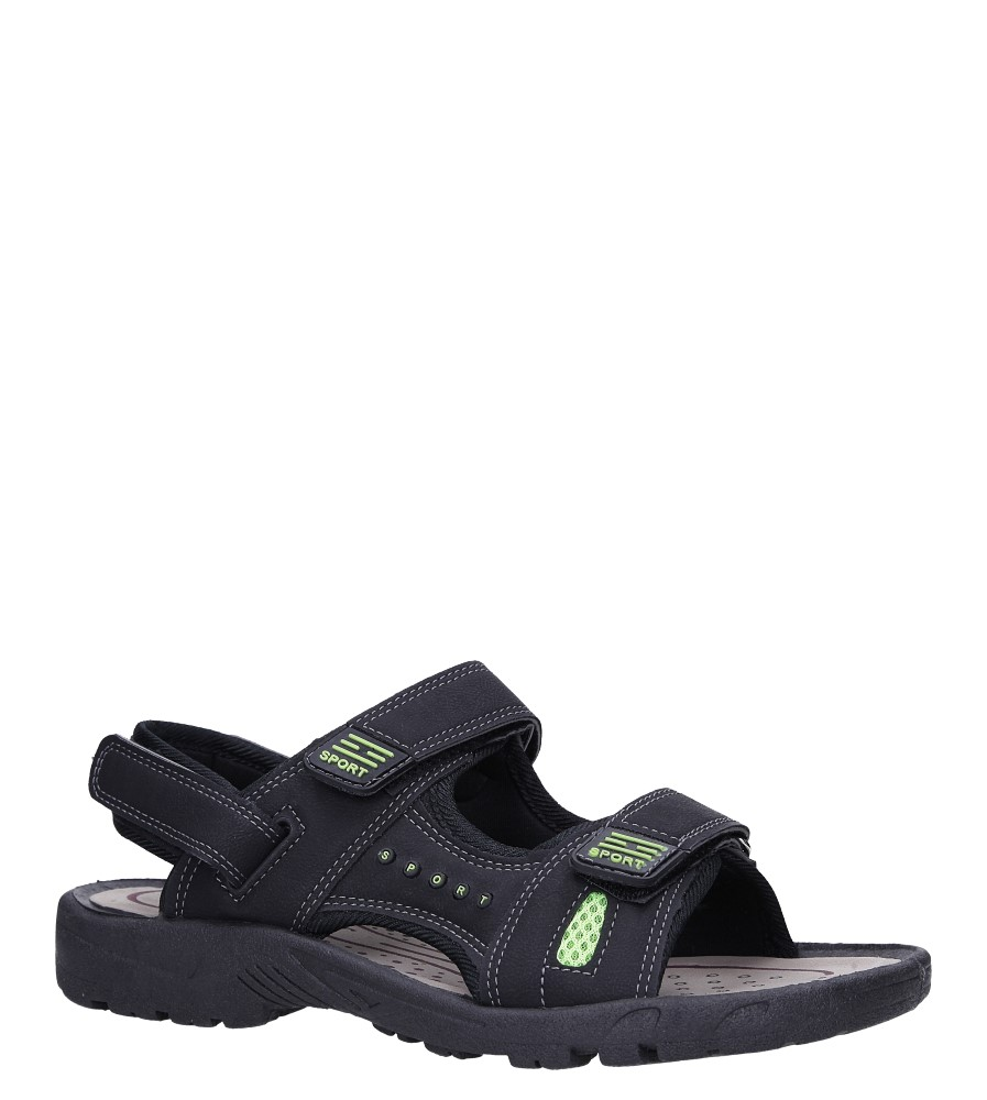 Czarne sandały na rzepy Casu M2212