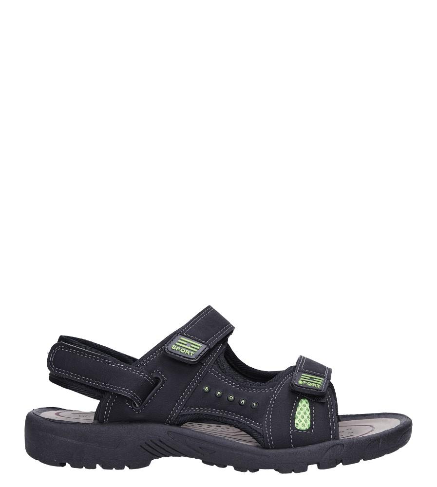 Czarne sandały na rzepy Casu M2212  model M2212