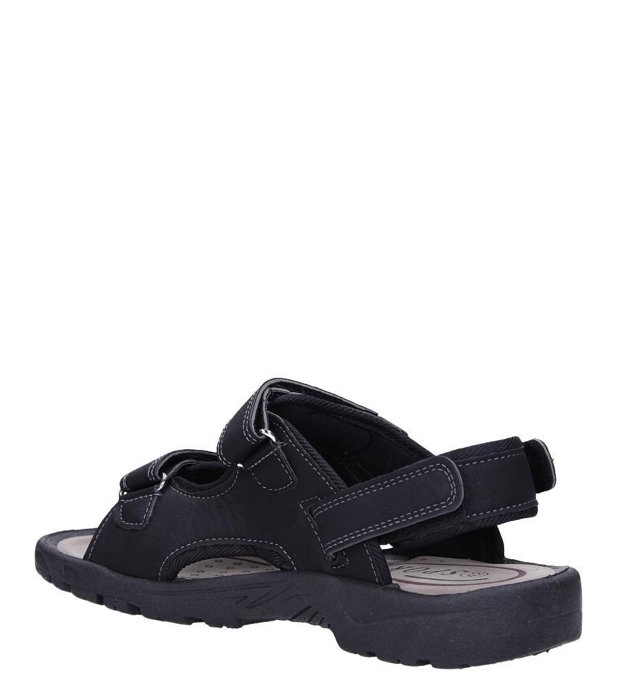 Czarne sandały na rzepy Casu M2212  sezon Lato