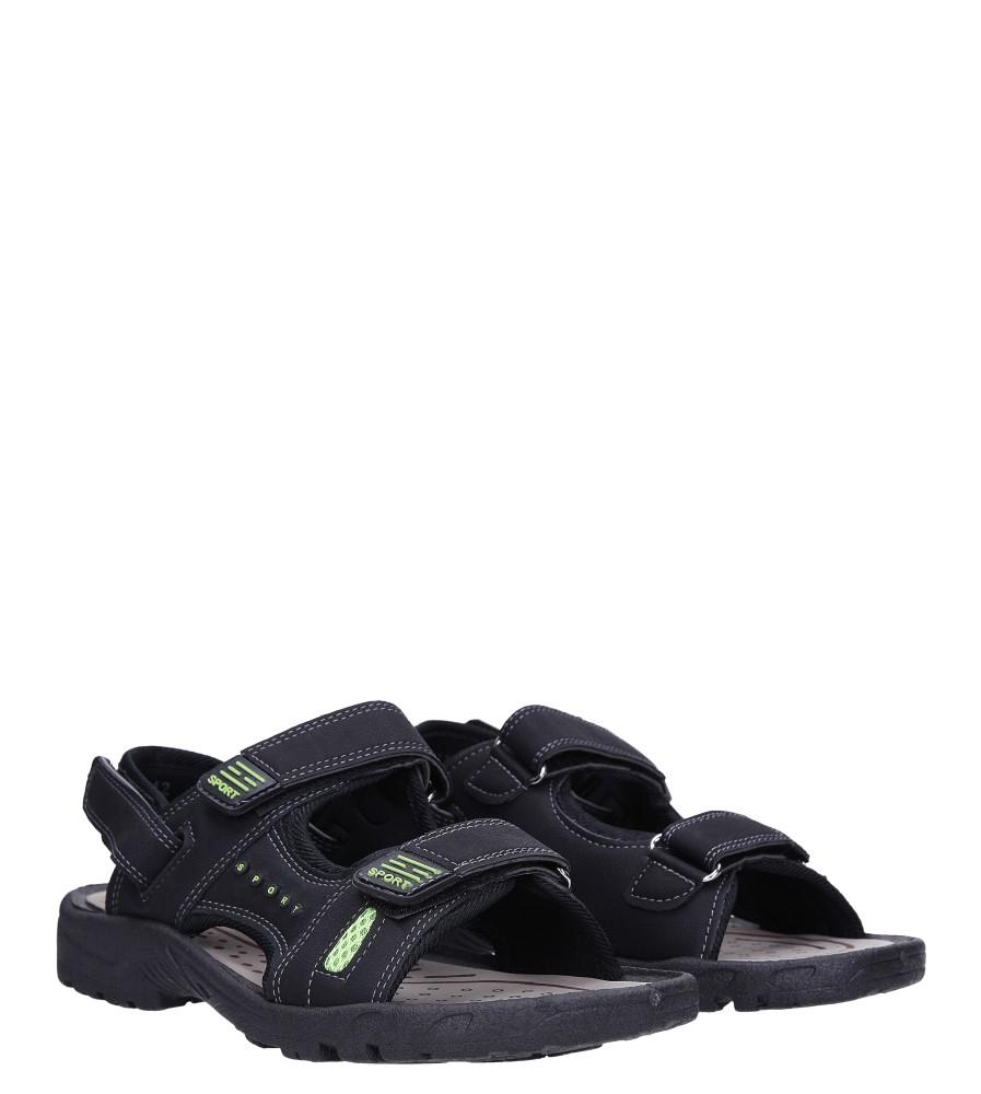 Czarne sandały na rzepy Casu M2212  kolor czarny