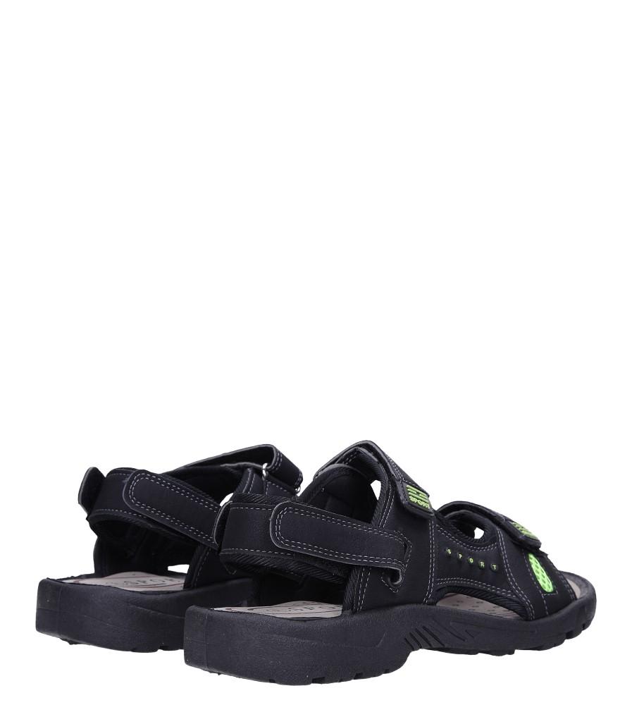 Czarne sandały na rzepy Casu M2212  wysokosc_platformy 1.5 cm
