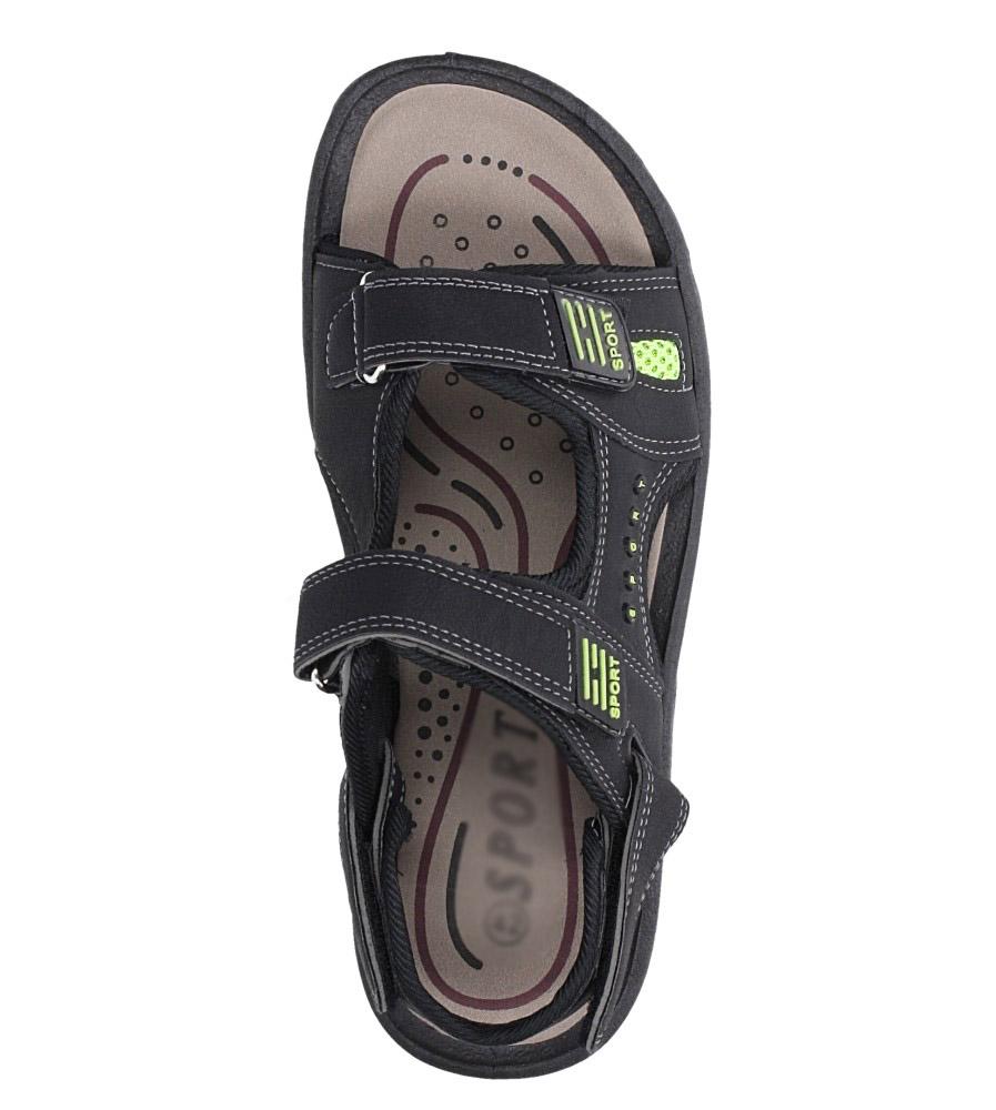 Czarne sandały na rzepy Casu M2212  wys_calkowita_buta 13 cm