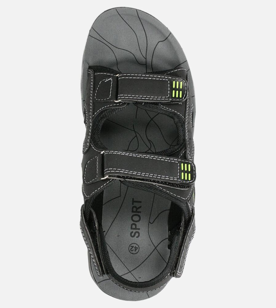 Czarne sandały na rzepy Casu M90072 kolor czarny