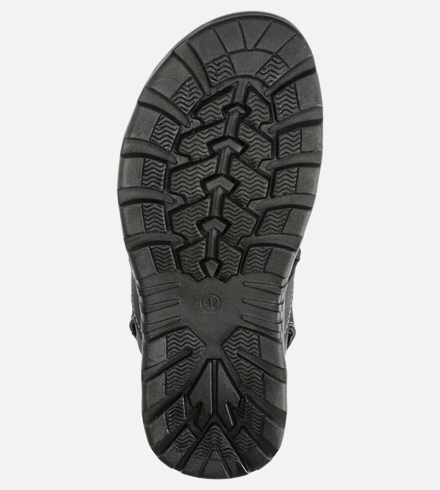 Czarne sandały na rzepy Casu M90072 wysokosc_obcasa 3 cm