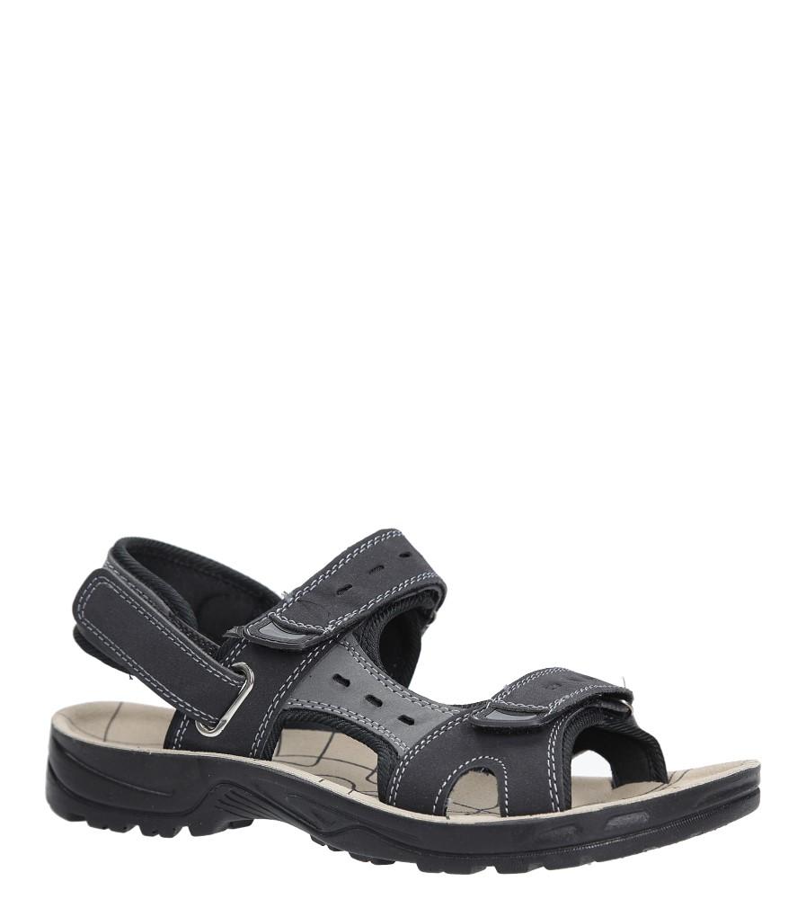 Czarne sandały na rzepy Casu P03 czarny