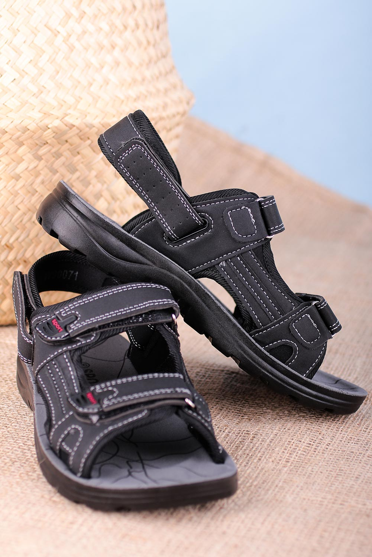 Czarne sandały na rzepy Casu W90071 czarny