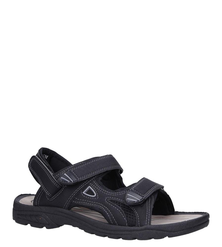 Czarne sandały na rzepy Casu XH9915M czarny