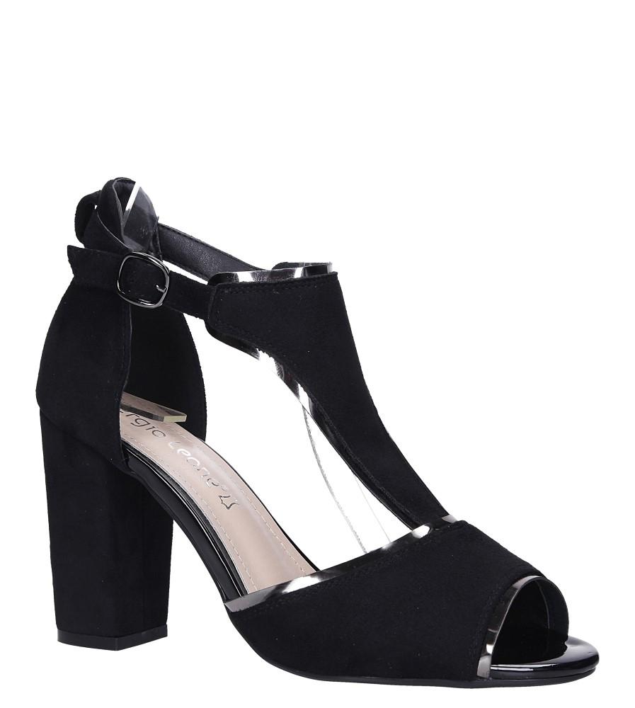 18d6c3d6eb7a ... Czarne sandały na słupku z zakrytą piętą Sergio Leone SK854 model SK854  ...