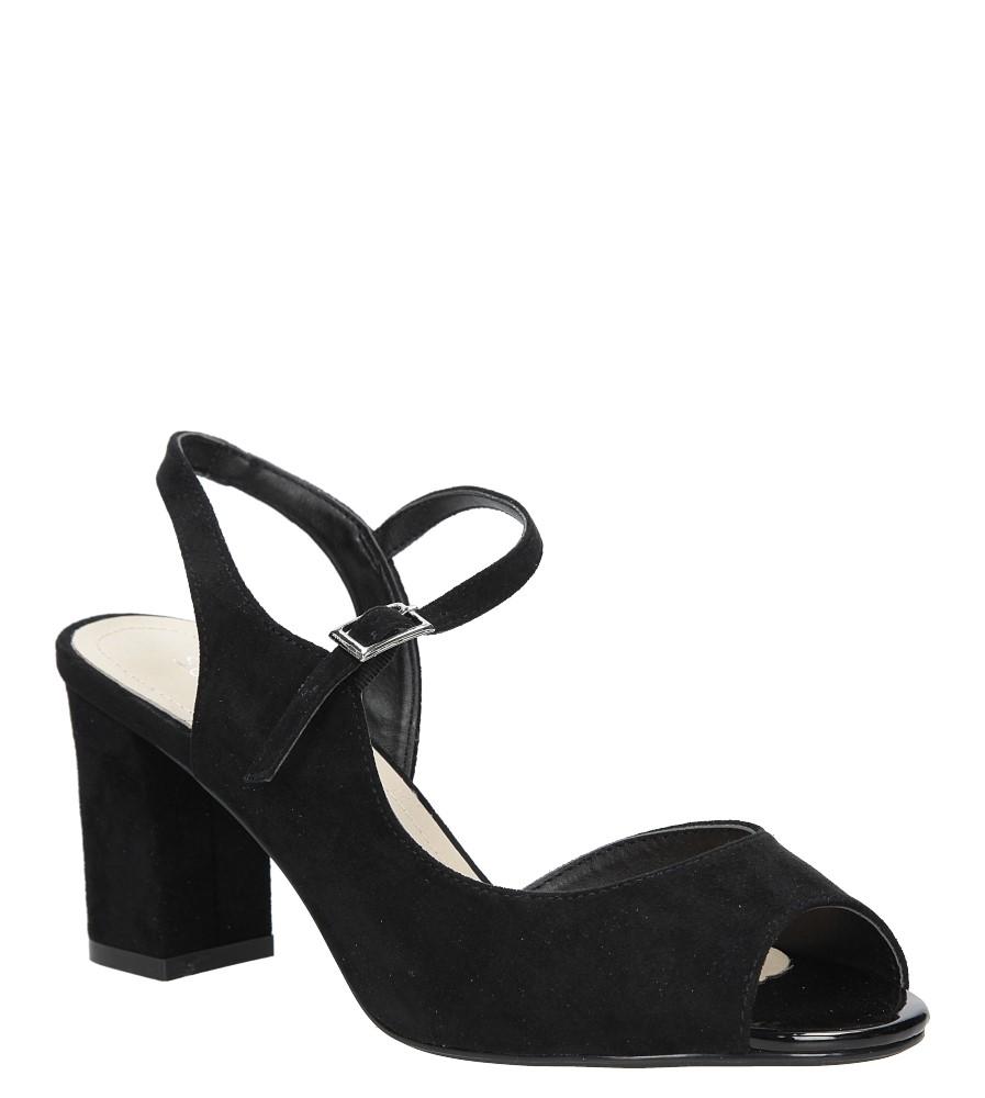 Czarne sandały na szerokim obcasie Sergio Leone SK808-01M
