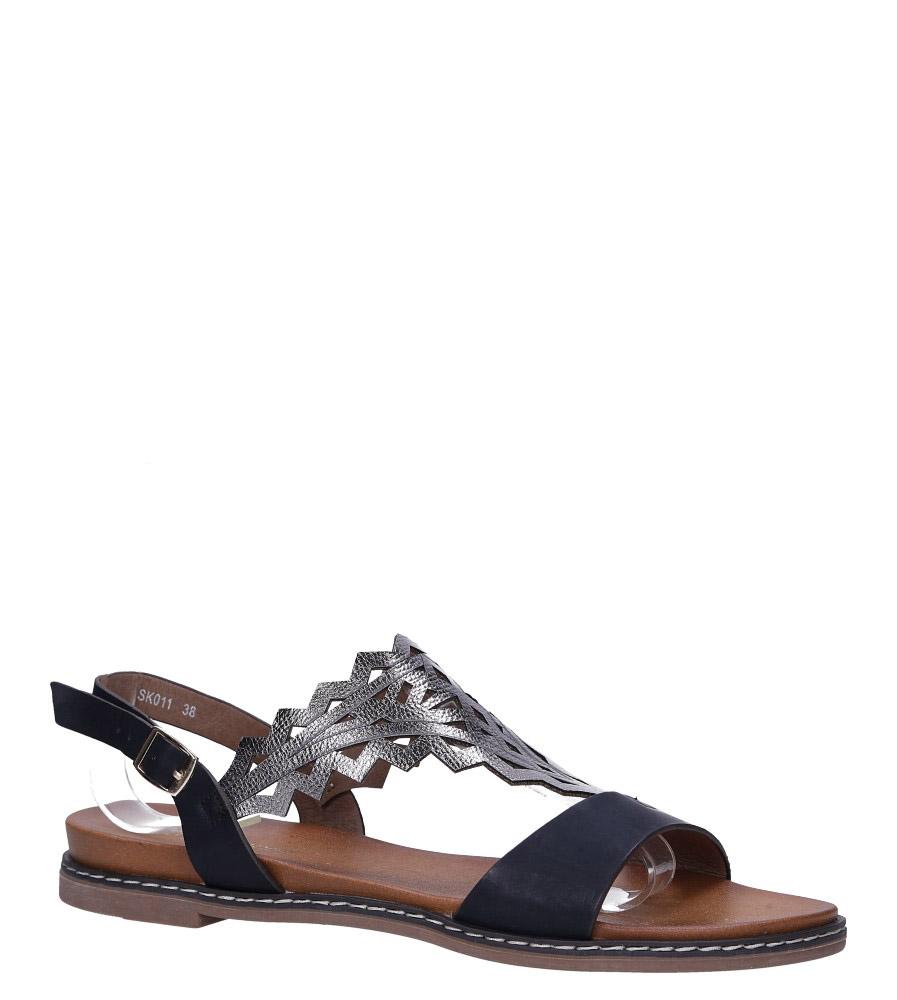 Czarne sandały płaskie ażurowe Sergio Leone SK011
