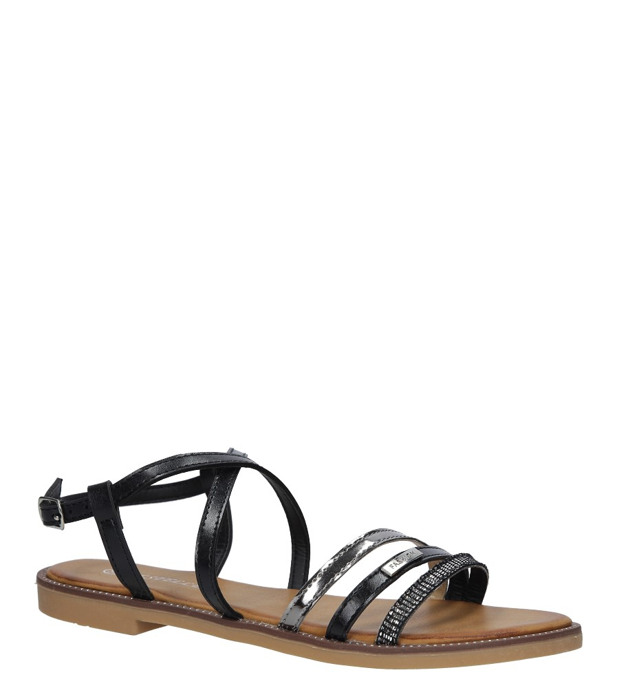 Czarne sandały płaskie Casu LS007  producent Casu
