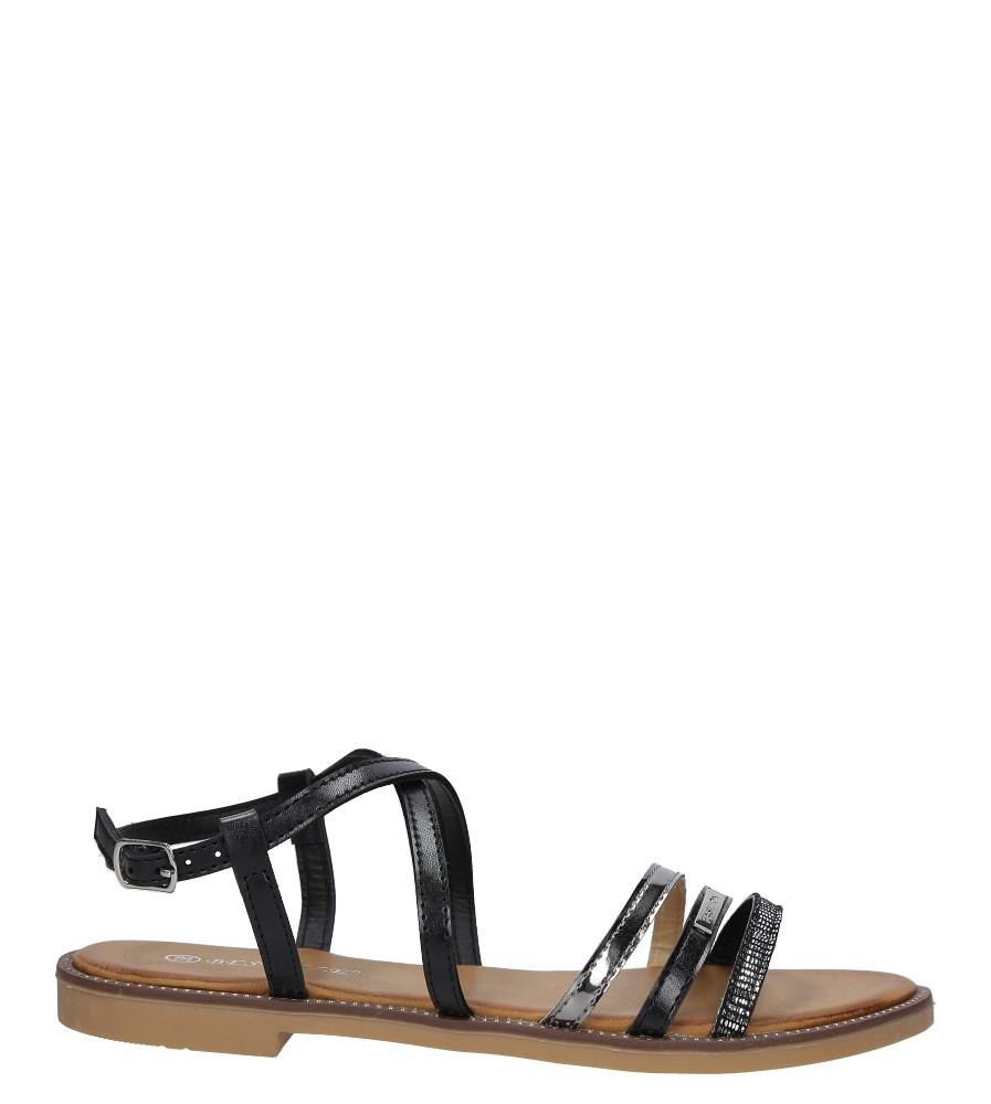 Czarne sandały płaskie Casu LS007  sezon Lato