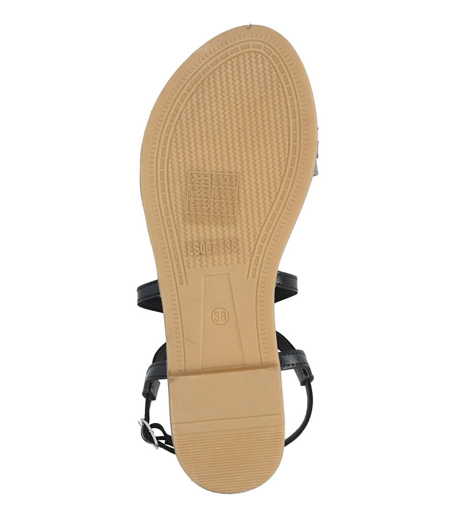 Czarne sandały płaskie Casu LS007  wys_calkowita_buta 7 cm