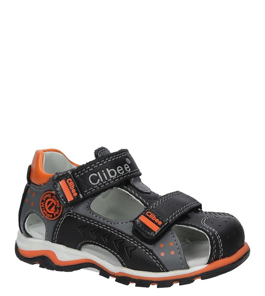 Czarne sandały skórzane na rzepy Casu F-200 producent Casu