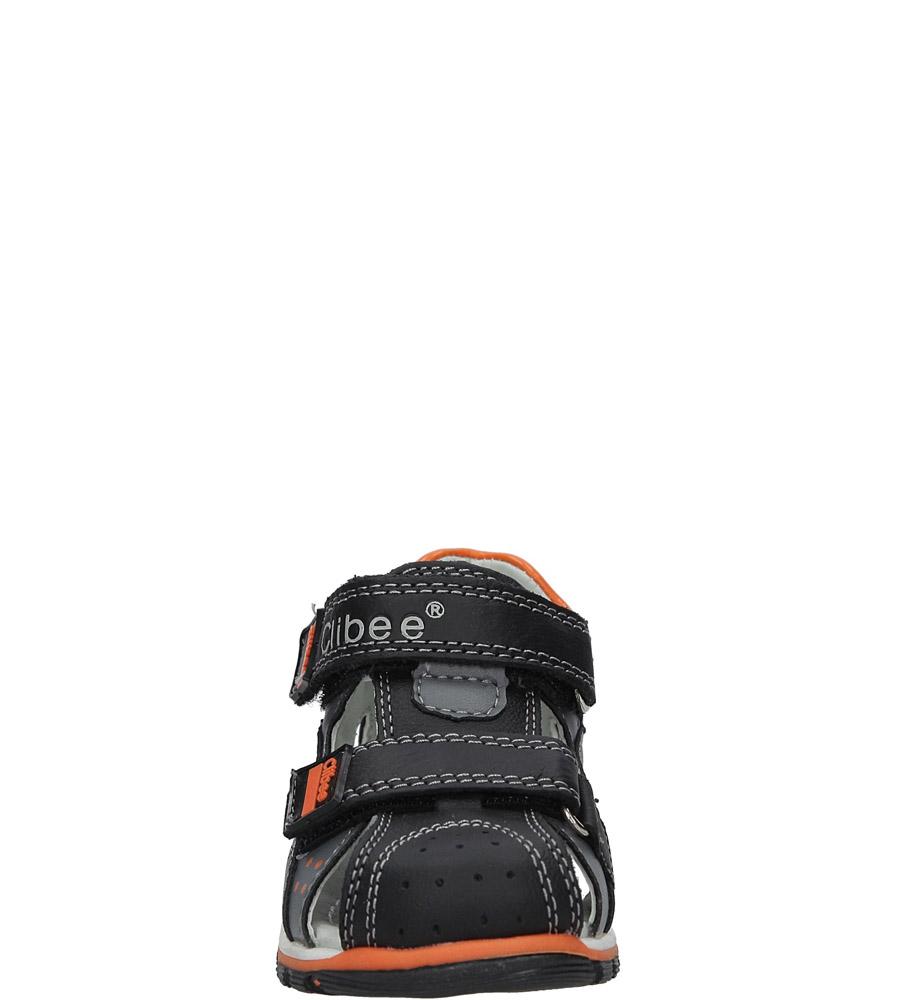 Czarne sandały skórzane na rzepy Casu F-200 sezon Lato