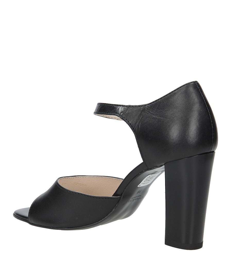 Czarne sandały skórzane na słupku Oleksy 2295/320/000/000/000 wysokosc_obcasa 9 cm