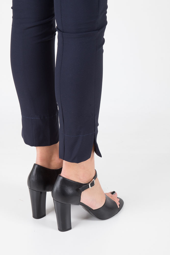 Czarne sandały skórzane na słupku Oleksy 2295/320/000/000/000 wierzch skóra naturalna - licowa
