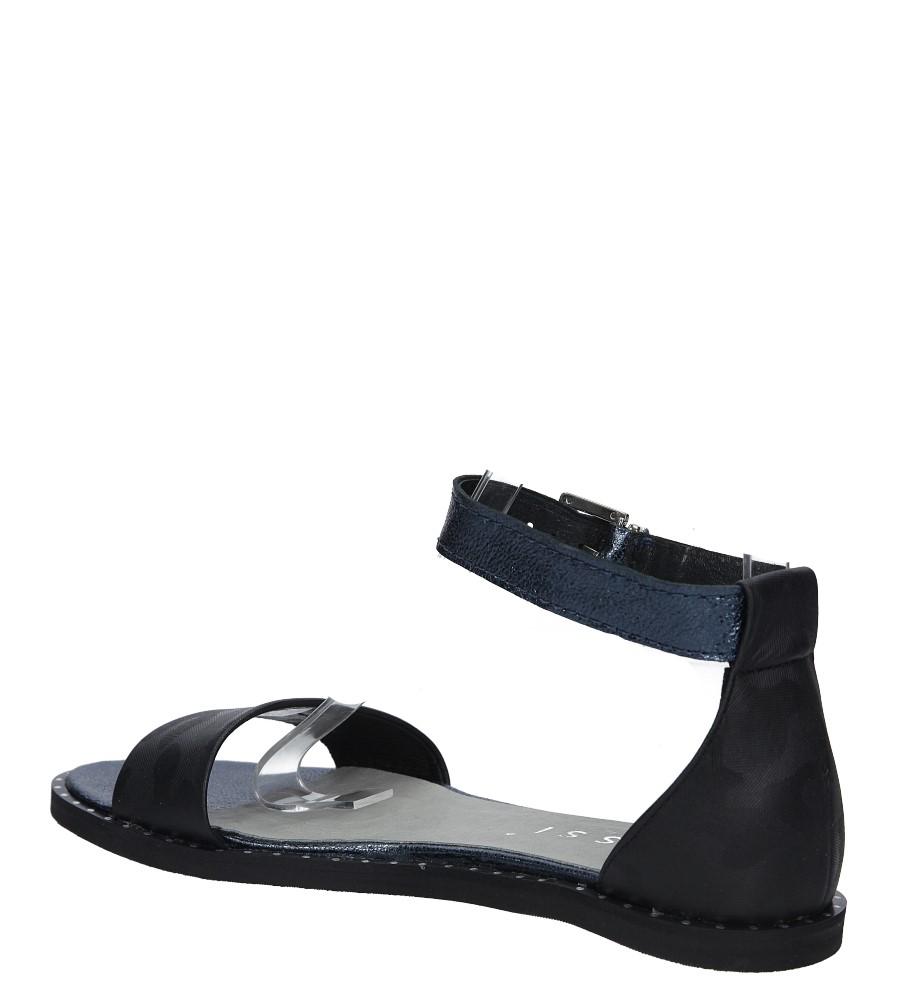 7b60a223dc9d Buty Czarne sandały skórzane płaskie moro z paskiem wokół kostki Nessi 18372  - Sklep Casu.pl
